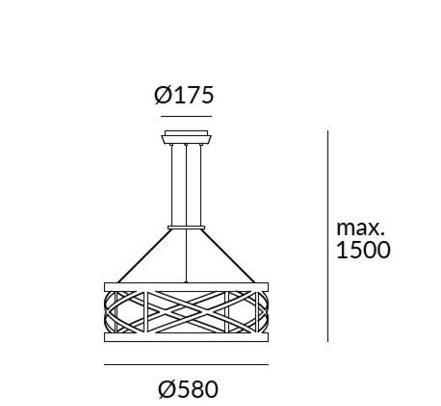 Train Led hanglamp Ø580mm 29,8W-2700K zwart dimbaar