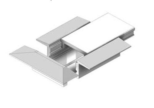 Wing Mini 8mm inbouw ledprofiel, 200cm, excl cover