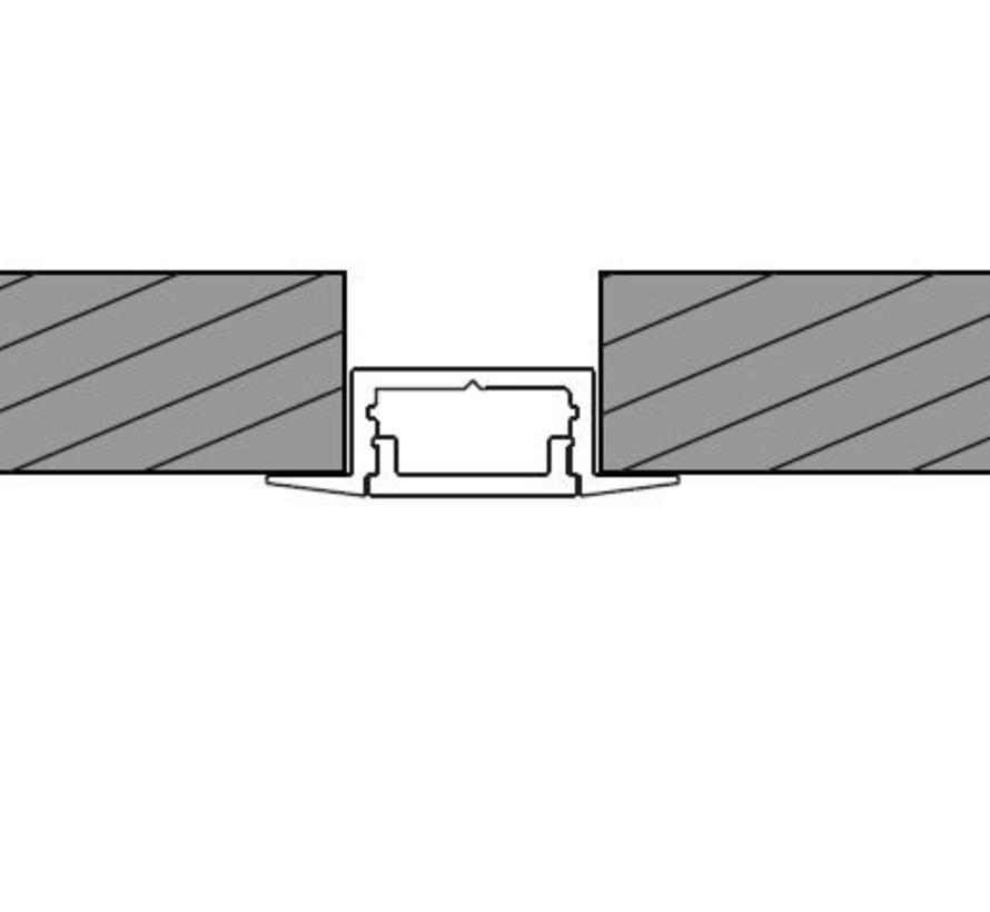Wing Mini Alu inbouw ledprofiel 2000 x 26 x 8mm