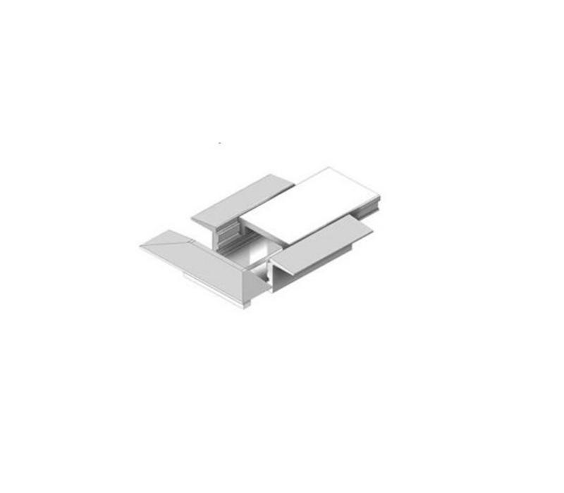 Wing Mini profiel eindkappen (2 stuks) grijs