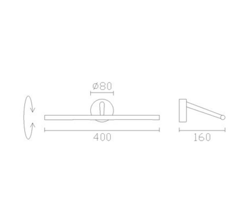 Siena Led schilderij armatuur 3,6Watt-3000K l=400mm
