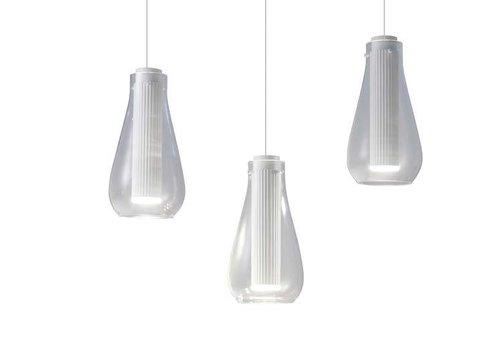 Grok Rigatto 3-voudige Led hanglamp wit 2700K mat-wit