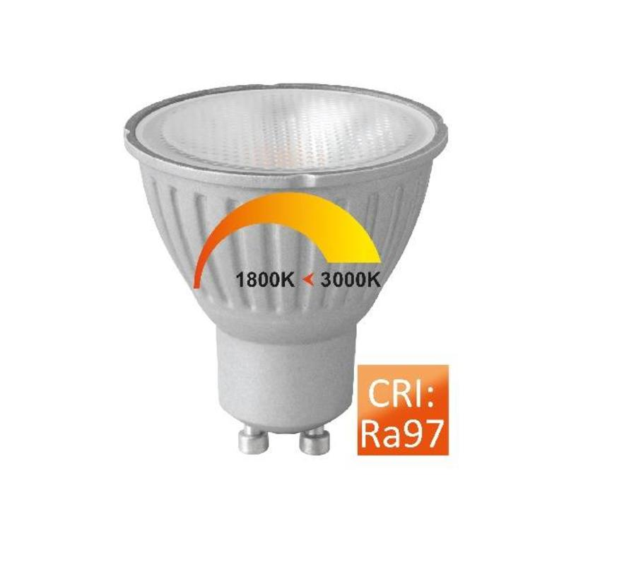 MM09680 PAR16-GU10 6Watt / 36gr Dim to Warm CRI97