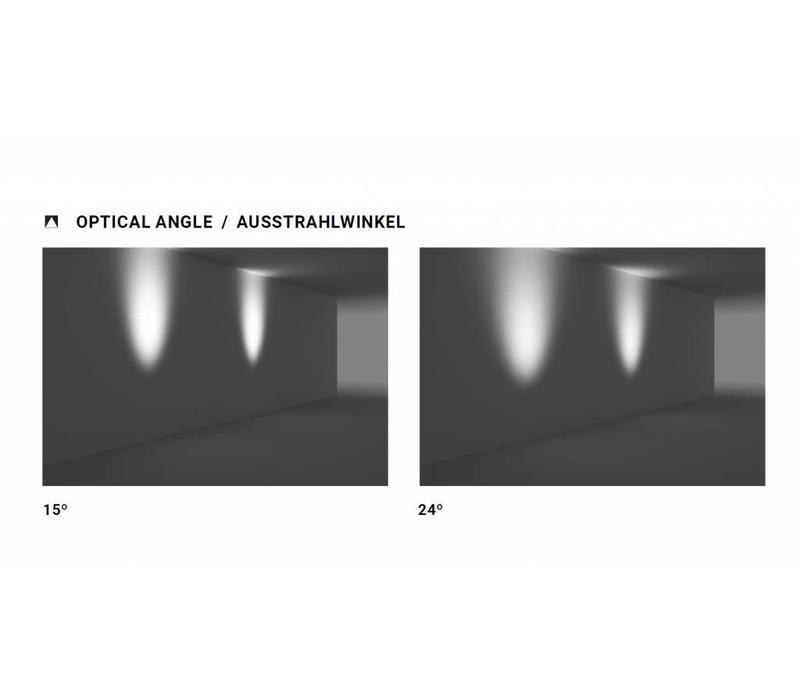 Micro spotlight 3Watt met grondpin, roest bruin
