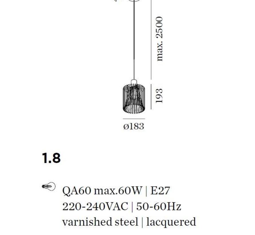 Wiro 1.8 hanglamp Ø183mm led E-27