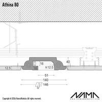 Athina 80 trimless kompleet inbouw Led profiel 80cm