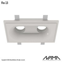 Fos 13 trimless gips 2-voudige inbouwspot rond