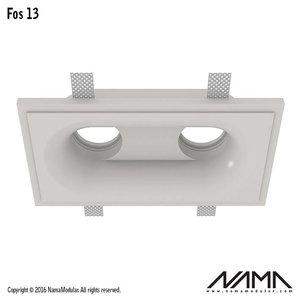NAMA Fos 13 trimless gips 2-voudige inbouwspot rond