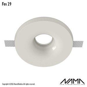NAMA Fos 19 trimless gips inbouwspot verdiept rond voor Ø50mm led