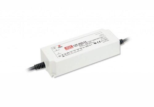 Meanwell LPF-90D-24 led driver 24V-90Watt dimbaar IP67
