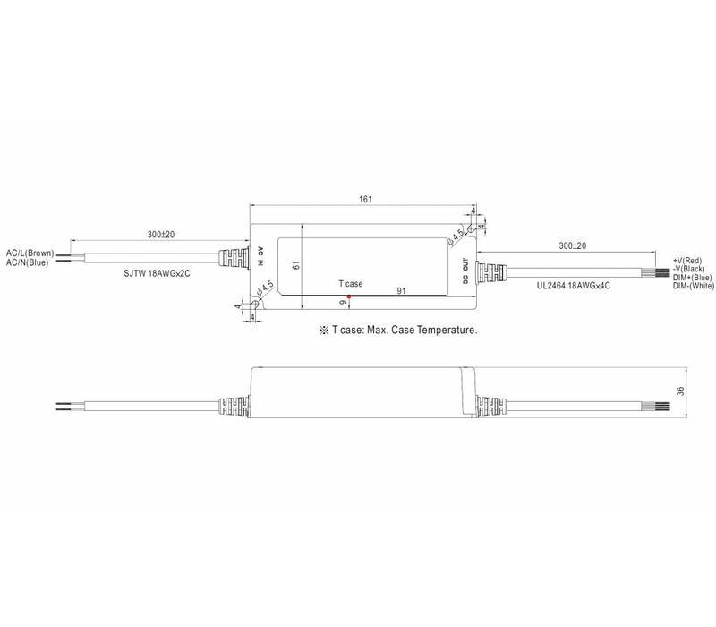 LPF-90D-24 led driver 24V-90Watt dimbaar