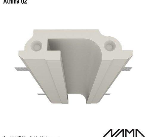 NAMA Athina 02 modulair trimless koppelbaar inbouw Led profiel 40cm recht