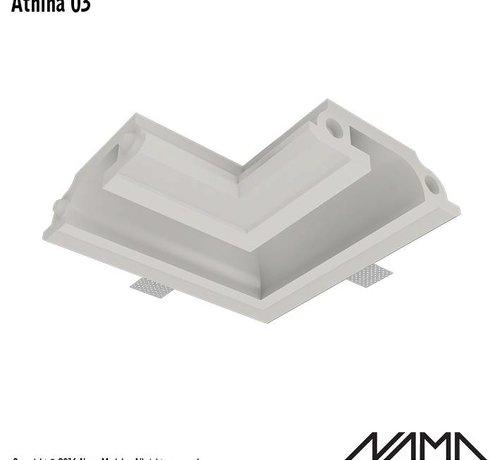 NAMA Athina 03  modulair trimless hoekstuk binnenzijde