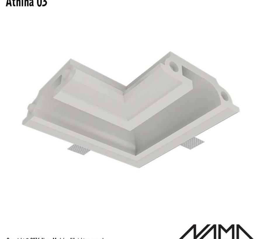Athina 03  modulair trimless hoekstuk binnenzijde
