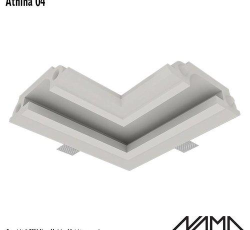 NAMA Athina 04 modulair trimless hoekstuk ledstrip aan buitenzijde