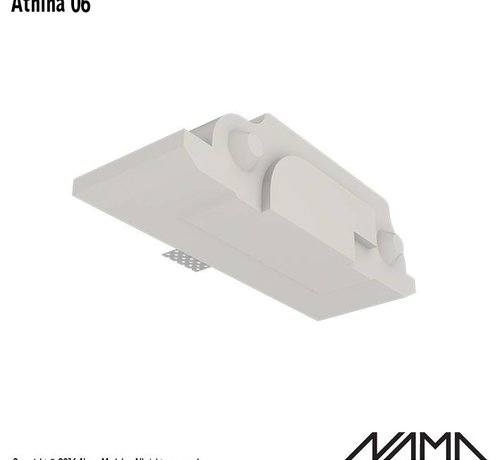 NAMA Athina 06 modulair trimless eindstuk links
