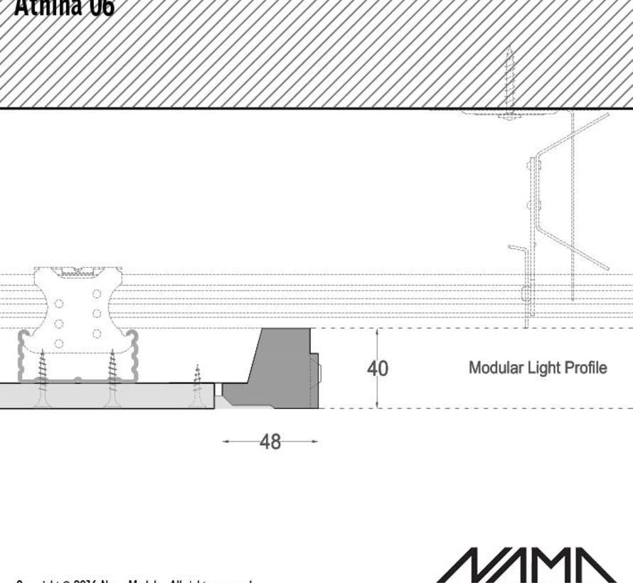 Athina 06 modulair trimless eindstuk links