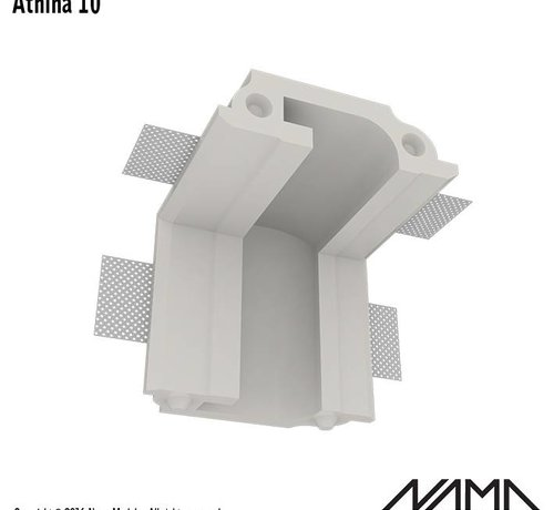 NAMA Athina 10 modulair trimless binnenliggend hoekstuk wand-plafond
