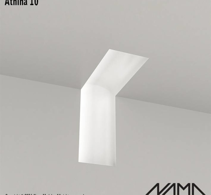 Athina 10 modulair trimless binnenliggend hoekstuk wand-plafond
