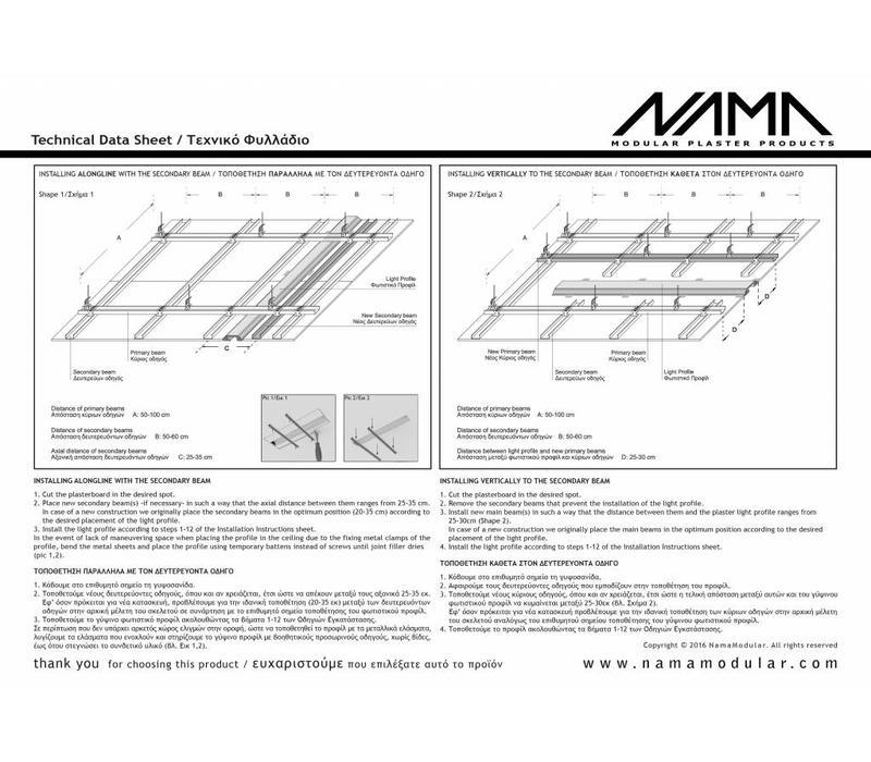 Athina 11 modulair trimless buitenliggend hoekstuk wand-plafond ledstrip links