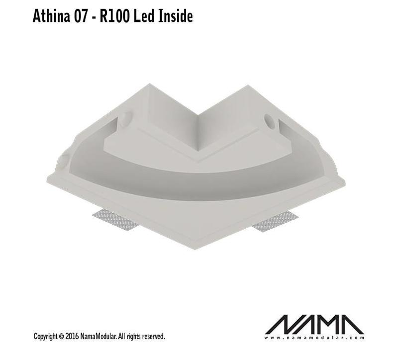 Athina 07-IN trimless bocht R100, leds aan binnenzijde
