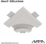 NAMA Athina 07-OUT trimless bocht R100, leds buitenzijde