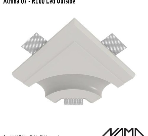 NAMA Athina 07-OUT trimless bocht R100, leds aan buitenzijde