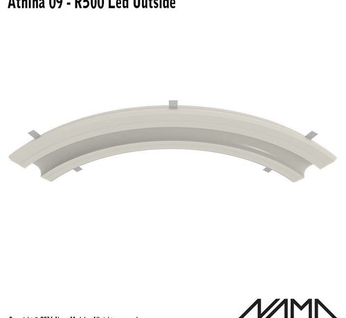 NAMA Athina 09-OUT trimless bocht R500, leds aan buitenzijde
