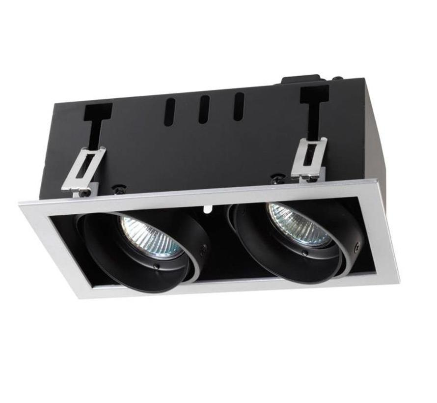 Multidir Trim richtbare inbouwspot led 2 x MR16 -GU5.3 in wit, zwart of zwart- alu grijs