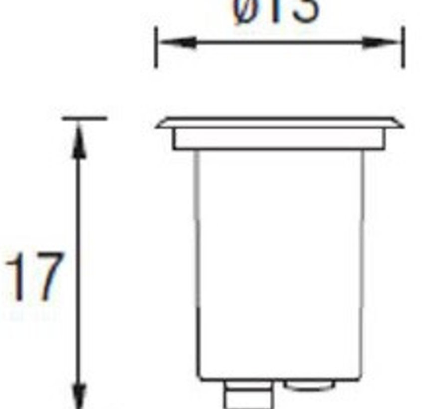 Gea GU10 grondspot rond richtbaar RVS 230Volt