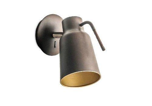Leds-C4 Funk wandlamp bruin/goud verstelbaar