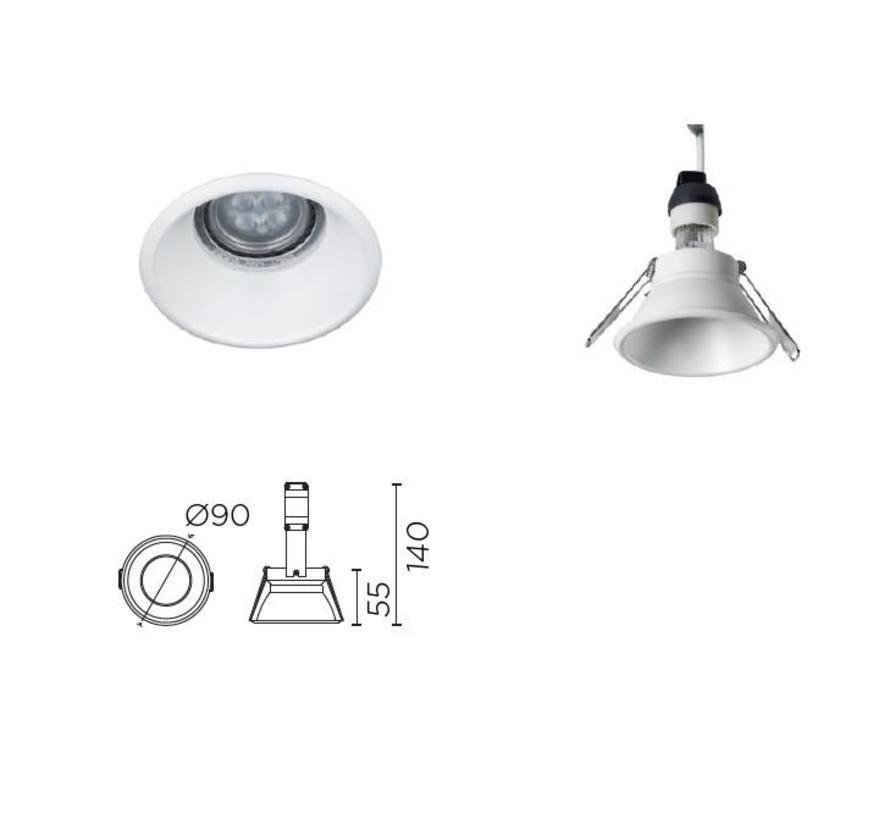 Dome recessed led spotlight for GU10-GU5.3