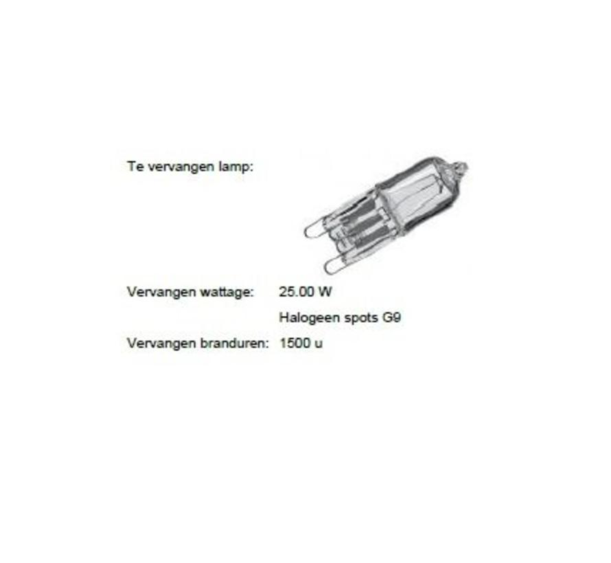 MM06381 G9 2Watt-2800K niet dimbaar