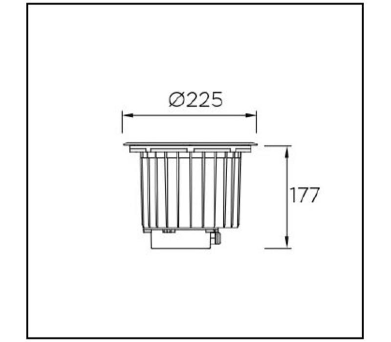 Gea Led Wall washer 24Watt RVS