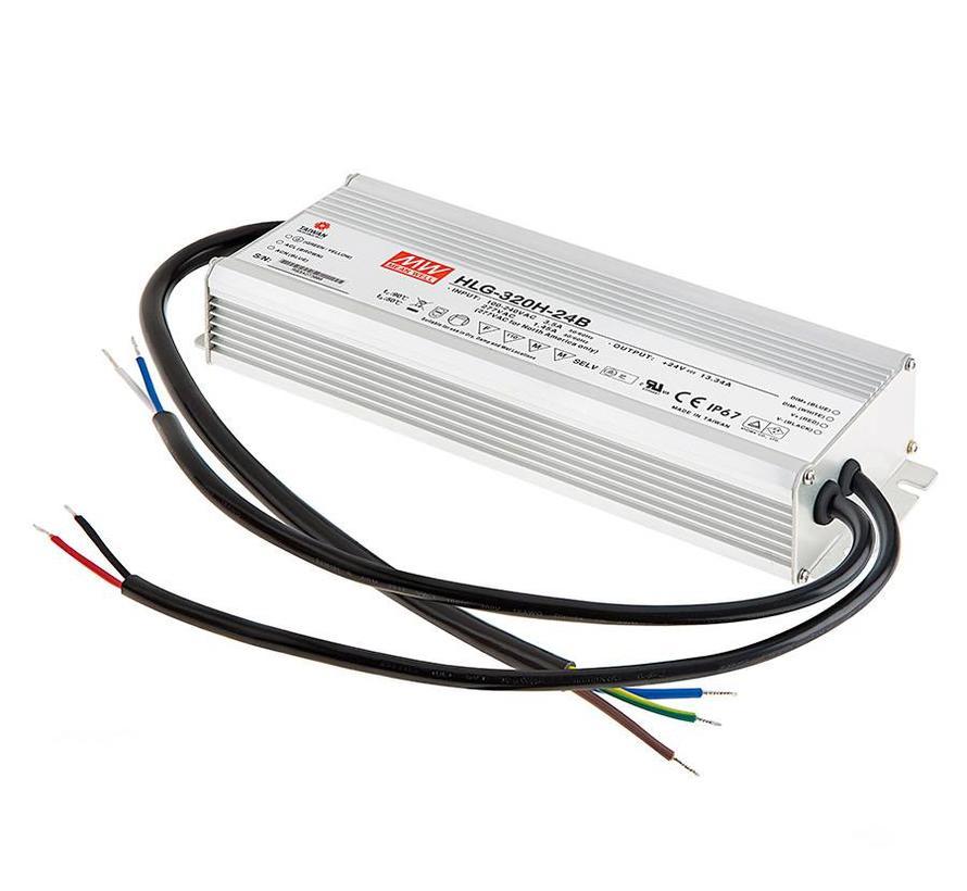 HLG-240H-24B led driver 24VDC-240W IP67 dimbaar
