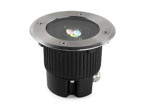 Leds-C4 Gea RGB Easy+ grondspot 24V-6Watt richtbaar RVS