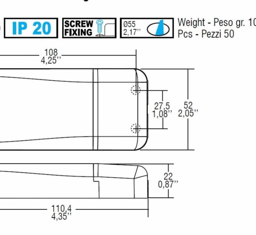 DC Mini Jolly 1-10V/Push dim driver 350-900mA  max. 20Watt