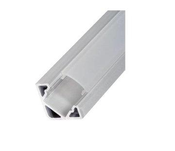Compact Corner 19x19mm alu ledprofiel, incl cover