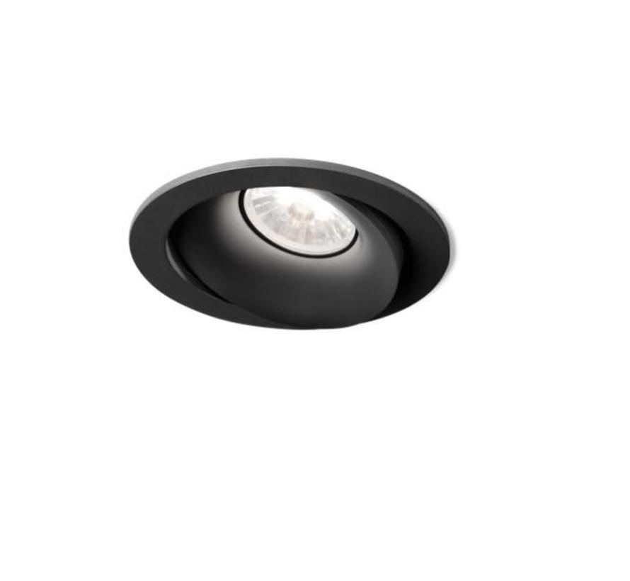 Rony 1.0 Led dimbare inbouwspot 7-10W richtbaar in wit, zwart en alu grijs