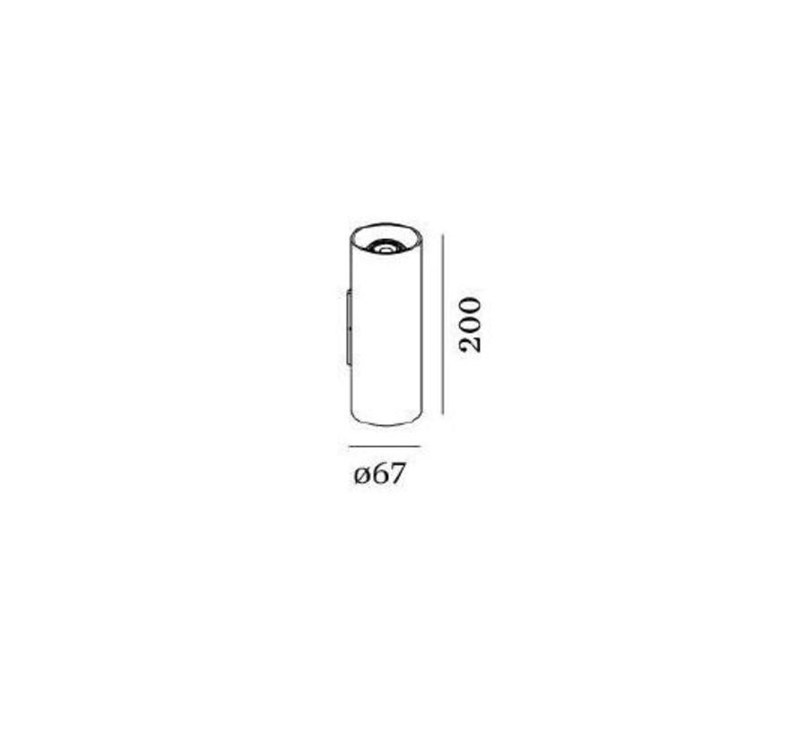 Ray Mini 2.0 Led wandarmatuur up/down schijnend 230Volt 2 x GU10