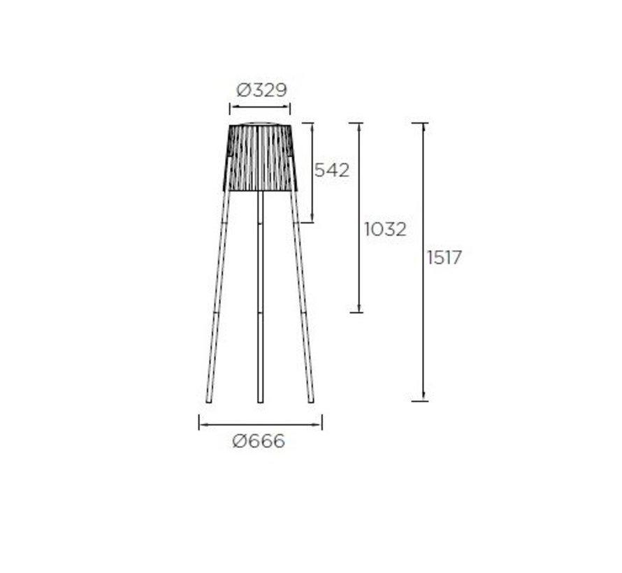 Barcino staande buitenlamp antraciet - opaal E-27