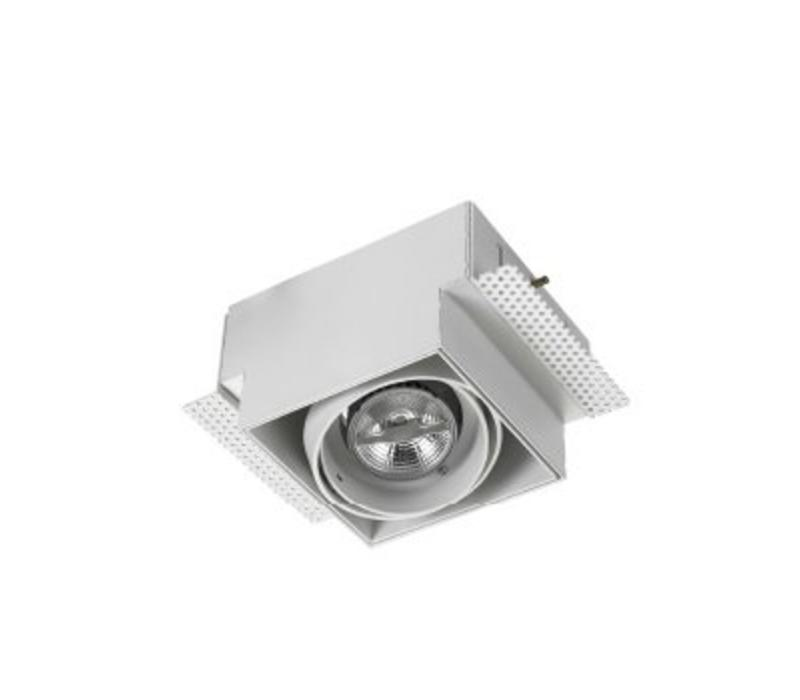 multidir trimless richtbare led inbouwspot 1 x mr16 gu53 in wit zwart