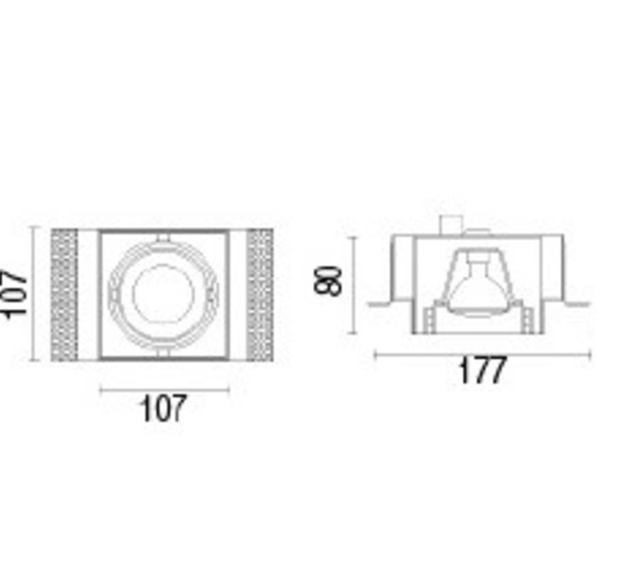 Multidir Trimless richtbare led inbouwspot  1 x MR16-GU5.3  in wit, zwart of antraciet