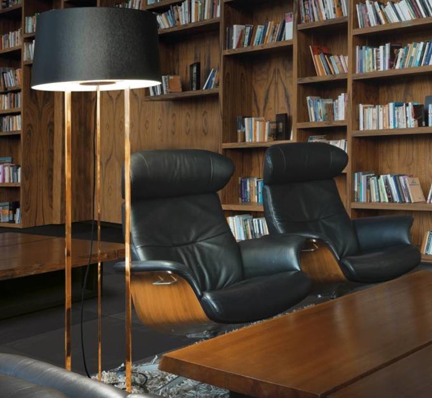 Premium floor lamp 3 x E-27 high 1568mm, Ø500mm in gold or copper