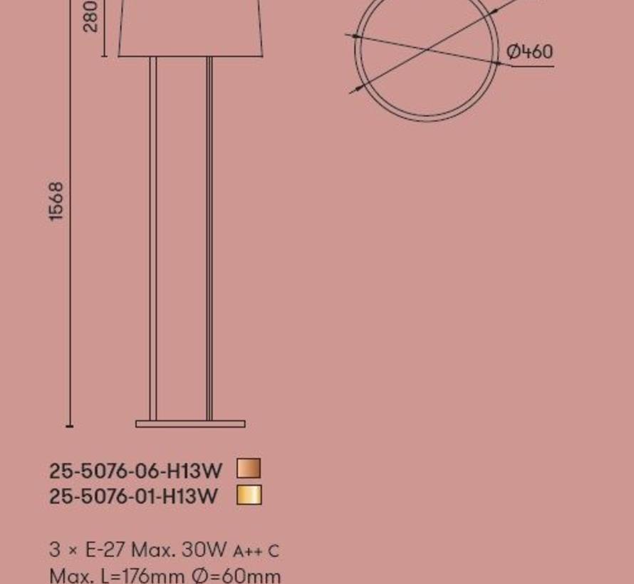Premium vloerlamp 3 x E-27 Ø500mm