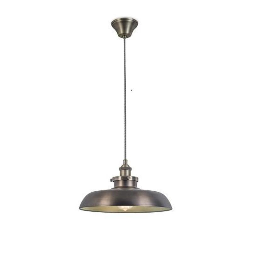 Vintage Ø350mm hanglamp oud messing-brons E-27