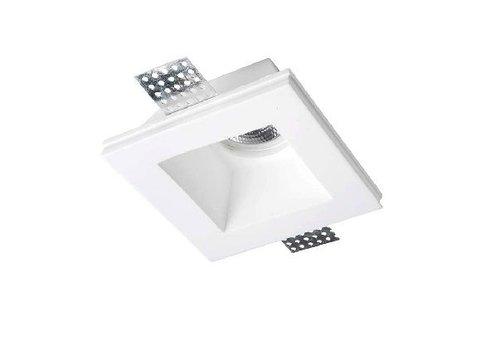 Leds-C4 GES vierkante vaste trimless gips inbouwspot voor 50mm ledlamp