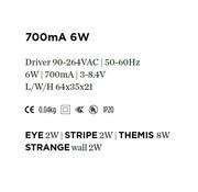 Wever & Ducre Driver 700mA-6Watt niet dimbaar