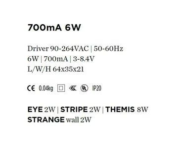 Wever-Ducre Driver 700mA-6Watt niet dimbaar