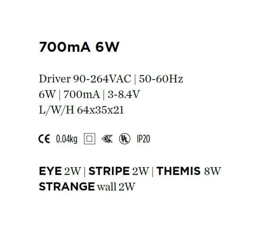 Driver 700mA-6Watt niet dimbaar